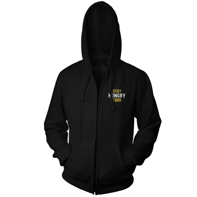 Stay Hungry Tour Black Zip Up Hoodie