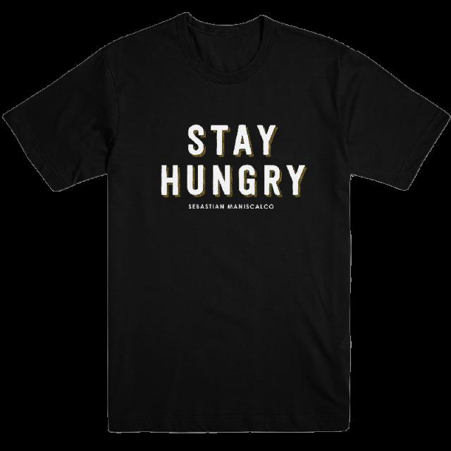 Sebastian Maniscalco Unisex Black Stay Hungry Tee