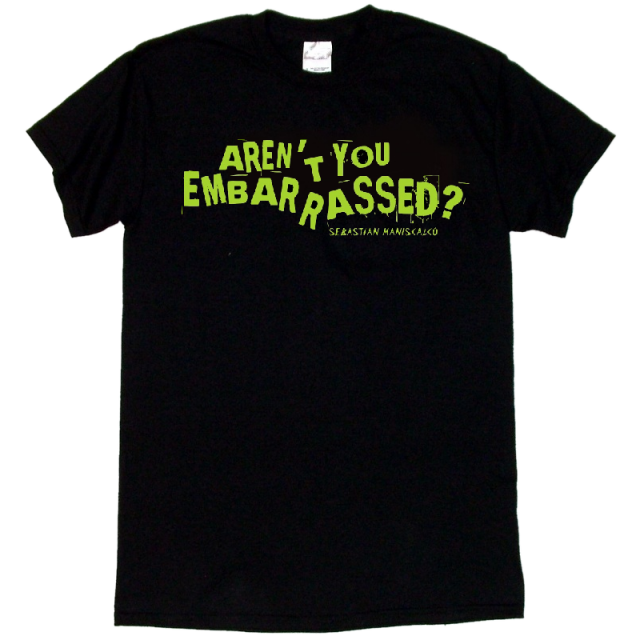 Sebastian Maniscalco Black Tee- Aren't You Embarrassed? in Green