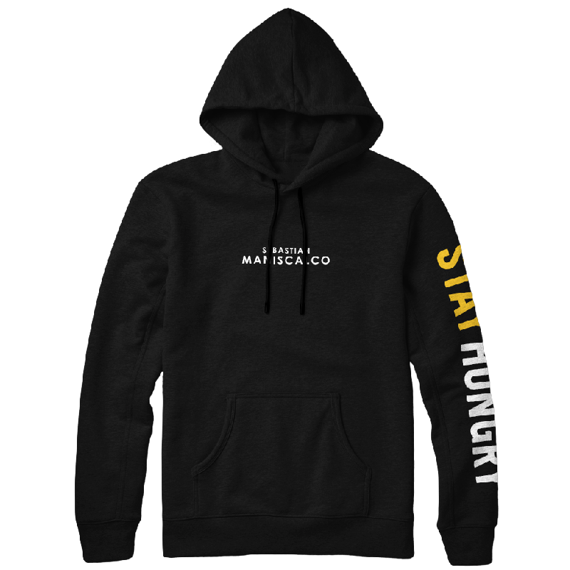 Stay Hungry Black Pullover Hoodie
