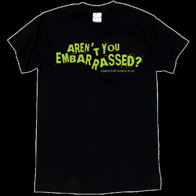 Sebastian Maniscalco Black Tee- Aren't You Embarrassed? in Green